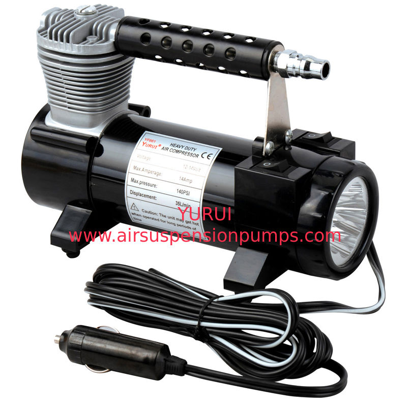 Black Color Single Cylinder 150 PSI  Chrome Vehicle Air Compressors With Bag For Cars Inflation