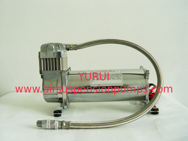 200PSI Single Chrome Car Air Compressor 12v , Air Ride Suspension For Trucks