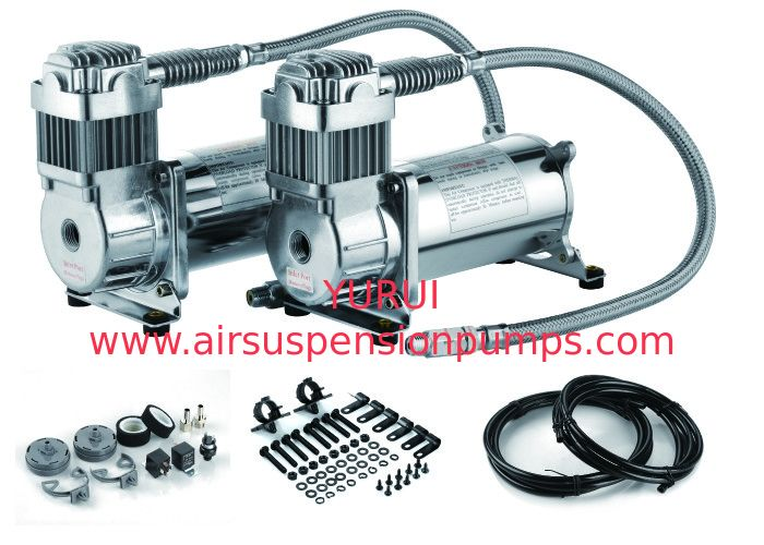 12V Dual  200 PSI Steel Air Ride Suspension Compressor dual tank air compressor vi air ride suspension pump