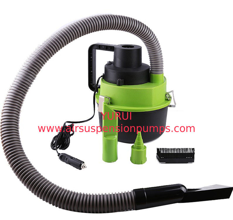 Black Green Handheld Vacuum Cleaner For Car , 93w - 120w Car Dust Cleaner