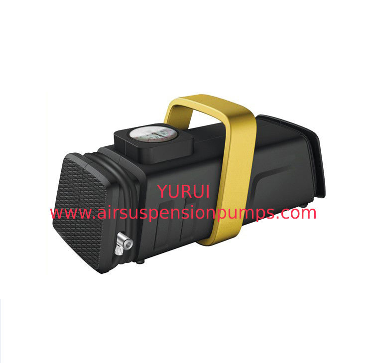 Plastic Car Tire Air Compressor 12v , Air Ride Handheld Tire Inflator For Car