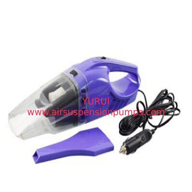Purple Hand Held Battery Powered Vacuum Cleaners Dc 12v Plastic Material