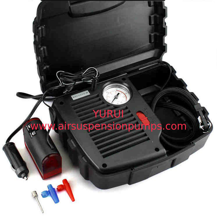 Dc 12v Portable Air Compressor Black Color 250psi Customized With Watch