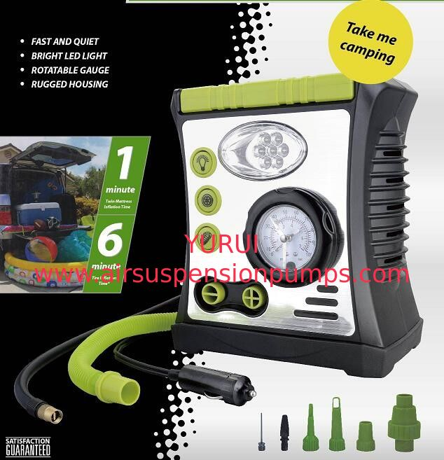 Car Air Pump with Lamp, Warning, Inflation function, DC 12V 100PSI